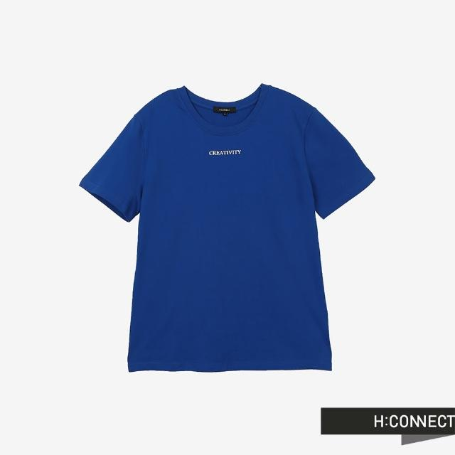 【H:CONNECT】韓國品牌 男裝 -圓領率性字樣T-Shirt(寶藍色)