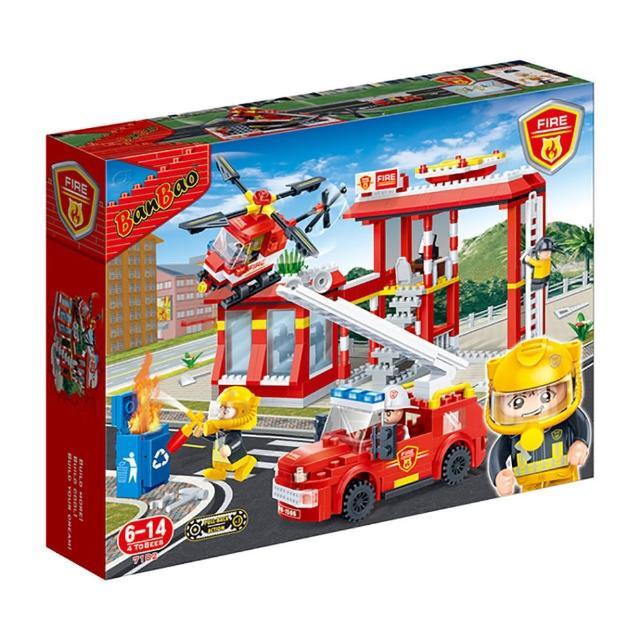 【BanBao 邦寶積木】新消防系列 消防護衛隊 迴力