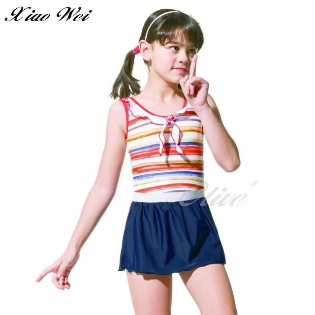 【梅林品牌】女童連身裙泳裝(NO.M05508)