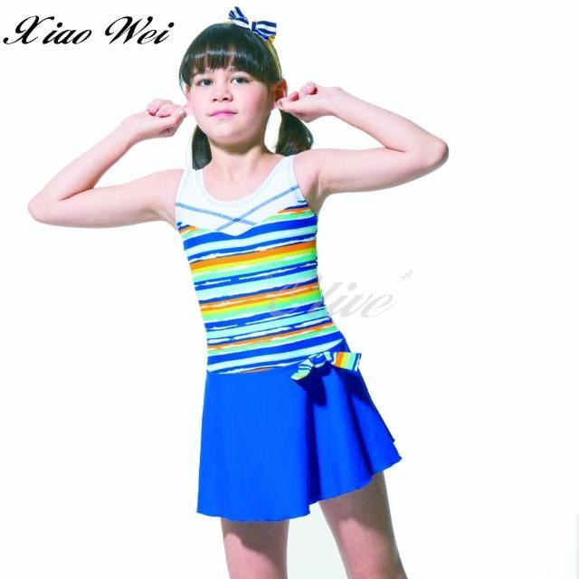 【梅林品牌】女童連身裙泳裝(NO.M05518)