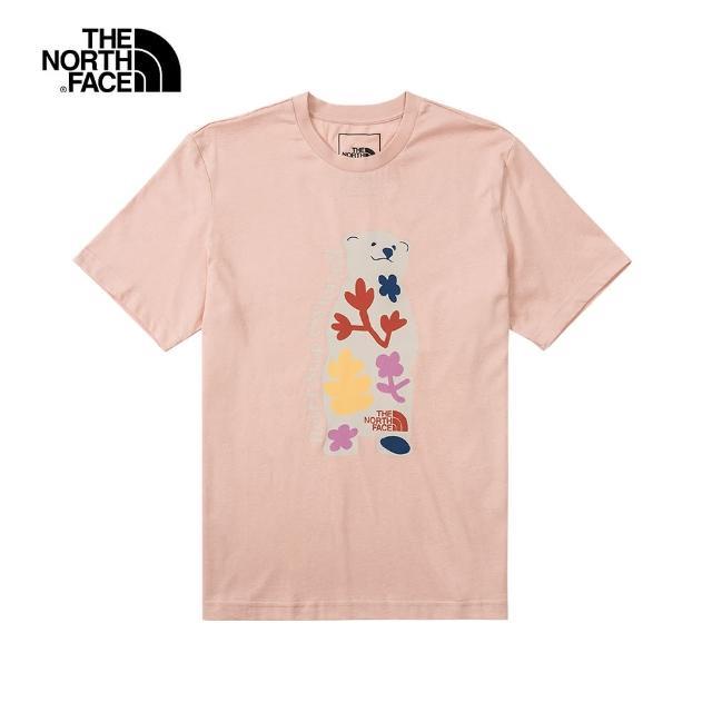 The North Face【The North Face】The North Face北面男女款粉色童趣小熊印花短袖T恤 4UDMUBF