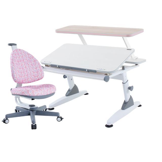 【大將作】M2+XS成長書桌椅+BABO C椅+收納書架(兒童成長書桌椅組)