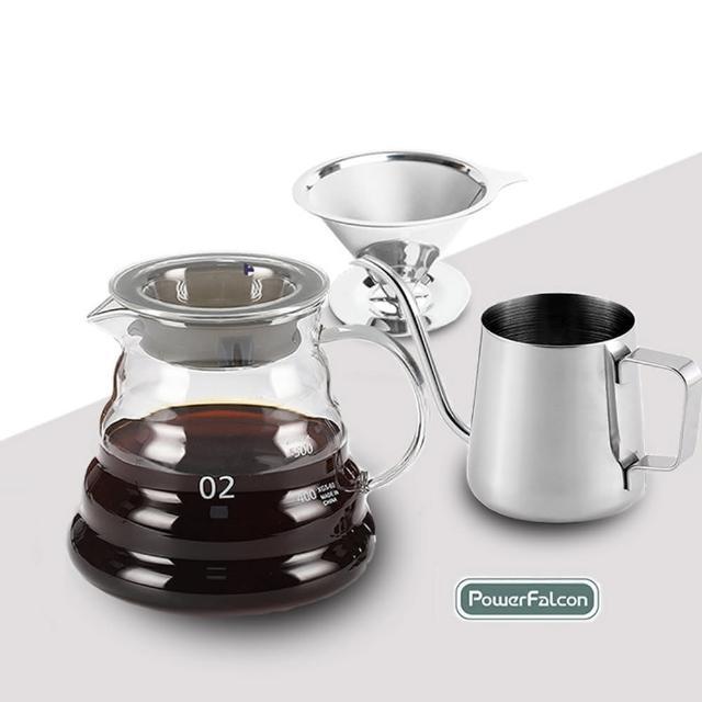 【PowerFalcon】CafeFalcon咖啡手沖入門4件組(咖啡 磨豆機)