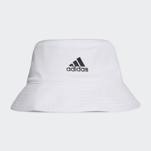 【adidas 愛迪達】帽子 漁夫帽 遮陽帽 白 H36811