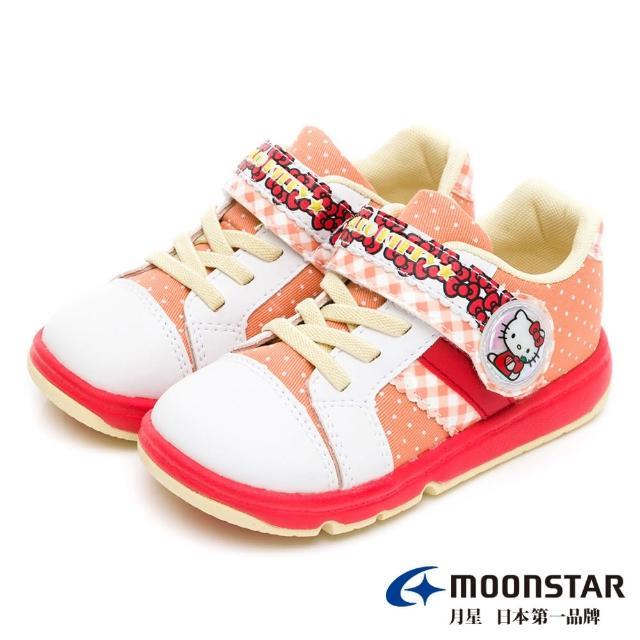 【MOONSTAR 月星】三麗鷗家族Hello Kitty童鞋(SANC0132紅橘15~18CM)