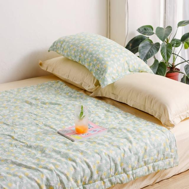 【青鳥家居】公證涼感紗 x 親膚雙層紗 / 涼被枕套組-蘇珊