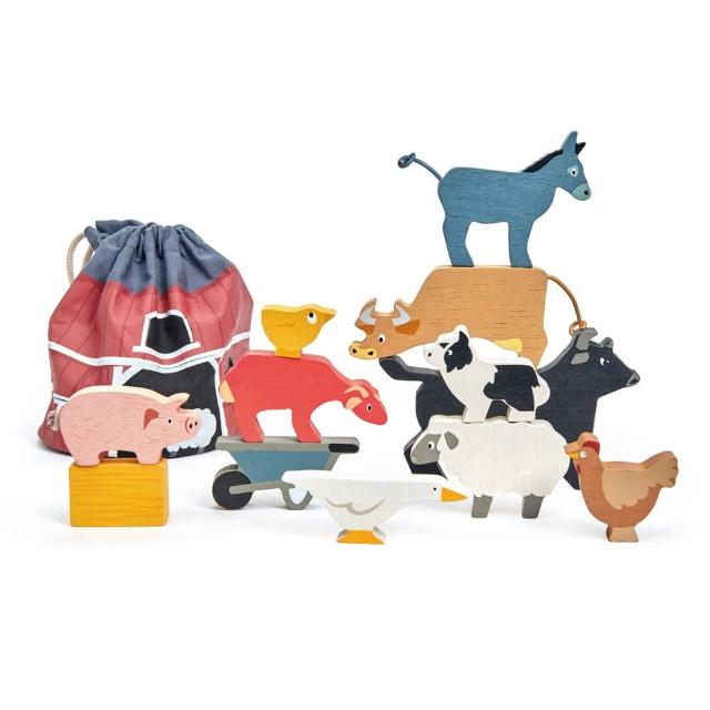 【Tender Leaf Toys】動物農莊收納組(積木益智遊戲)