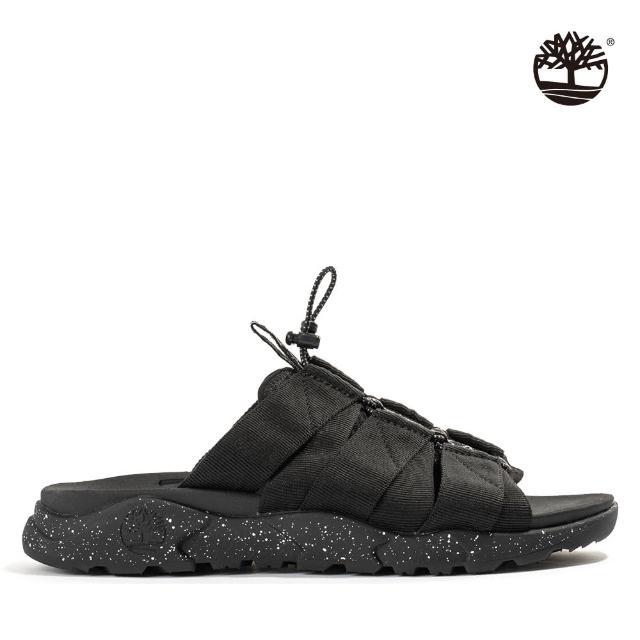 【Timberland】男款黑色Ripcord織帶涼鞋(A2QQP015)