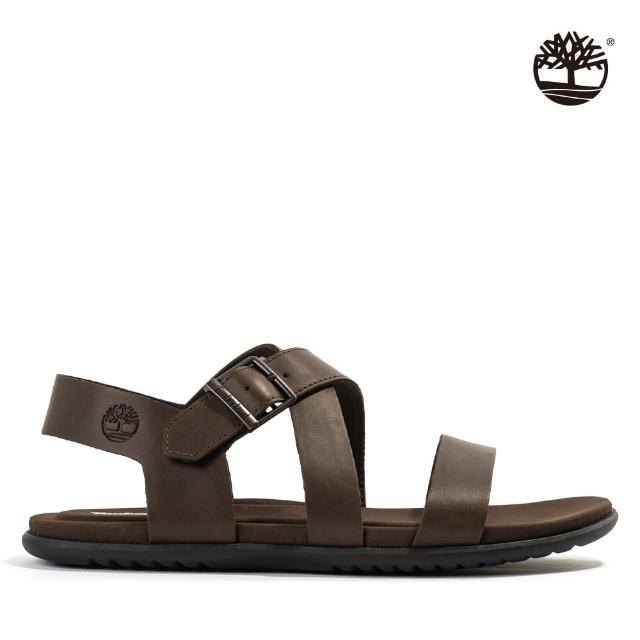 【Timberland】男款深咖啡扣環涼鞋(A42H9V13)
