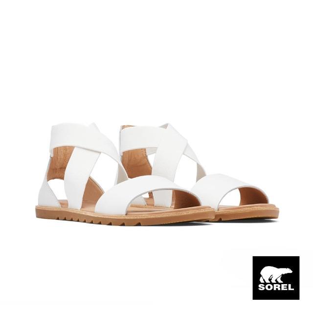 【SOREL】女款ELLA綁帶涼鞋(白色)