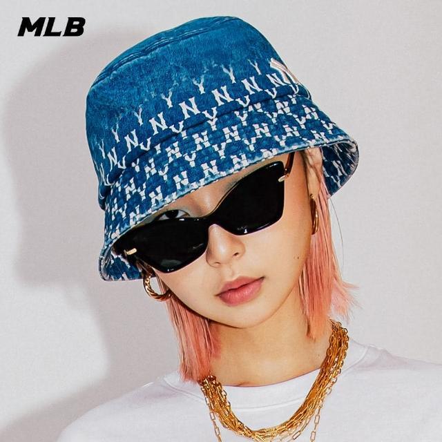 【MLB】漁夫帽 牛仔丹寧 漸層老花Monogram系列 紐約洋基隊(32CPH5111-50U)