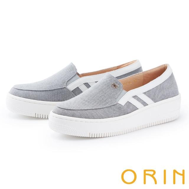 【ORIN】牛仔布面厚底 女 休閒鞋(灰色)