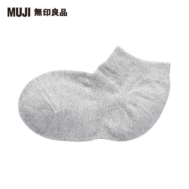 【MUJI 無印良品】兒童棉混腳跟特殊編織淺口直角襪(共4色)