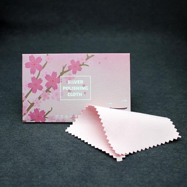 【Emi 艾迷】銀飾氧化保養拭銀布五入裝(櫻花/大理石風)