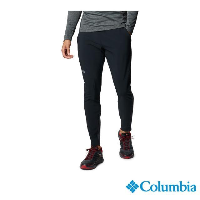 【Columbia 哥倫比亞】男款-野跑 UPF50防潑長褲-黑色(UAE02270BK / 防潑.防曬.休閒)