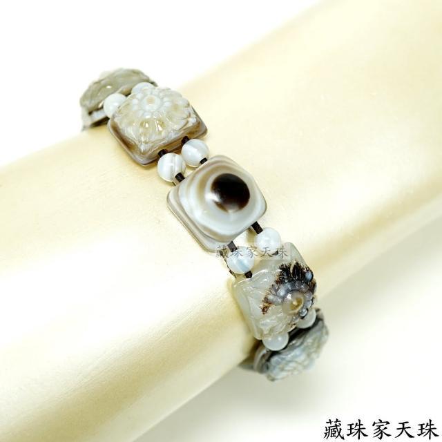 【藏珠家】精品十字金剛杵+財咒天珠手鍊