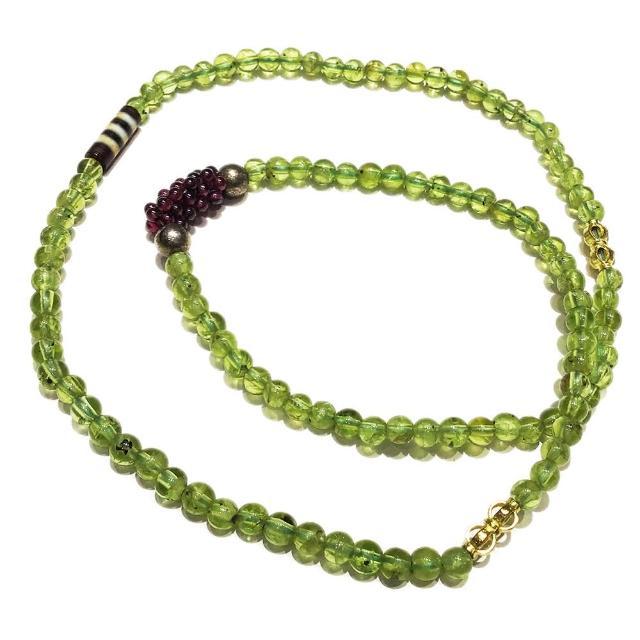 【十方佛教文物】藥師線珠+橄欖石108念珠4mm