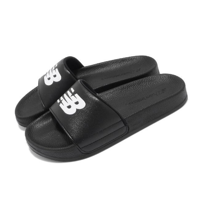 【NEW BALANCE】拖鞋 1101 基本款 男女鞋 紐巴倫 輕量 耐磨 夏日必備 黑 白(SD1101GBKM)