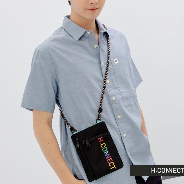【H:CONNECT】韓國品牌 配飾-彩色logo字樣隨身拉鍊小包