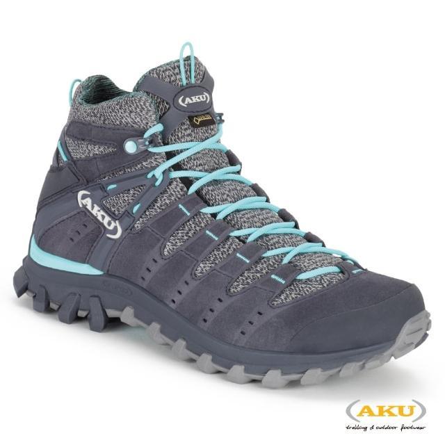 【AKU】女 中筒 輕量多功能登山健行鞋 深灰/亮藍 ALTERRA LITE MID GTX WS(AK714-274/登山鞋/健行鞋)
