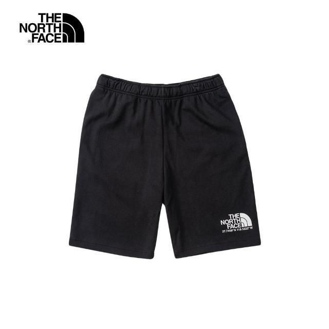 【The North Face】The North Face北面男款黑色舒適透氣運動休閒短褲|4U9NJK3