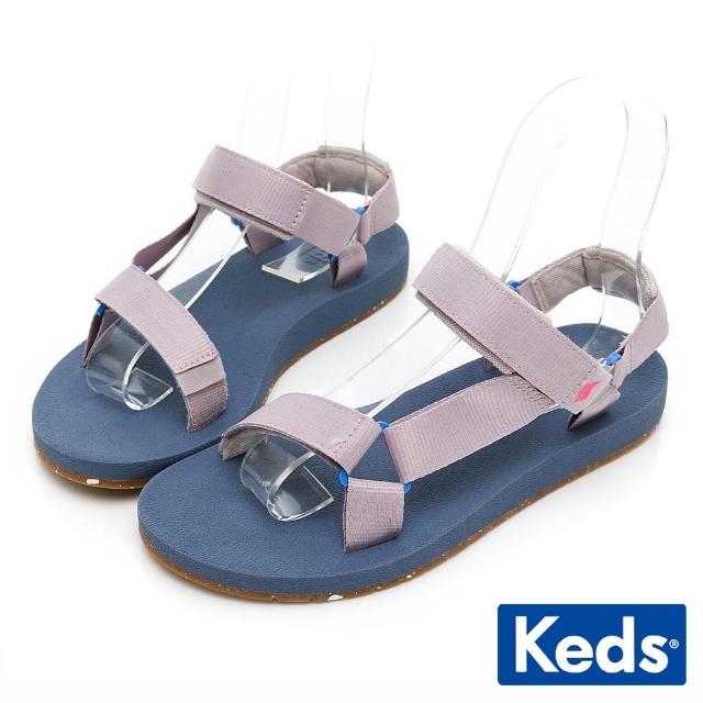 【Keds】TRIO ECO SANDAL 輕量街頭風格涼鞋(淺紫)