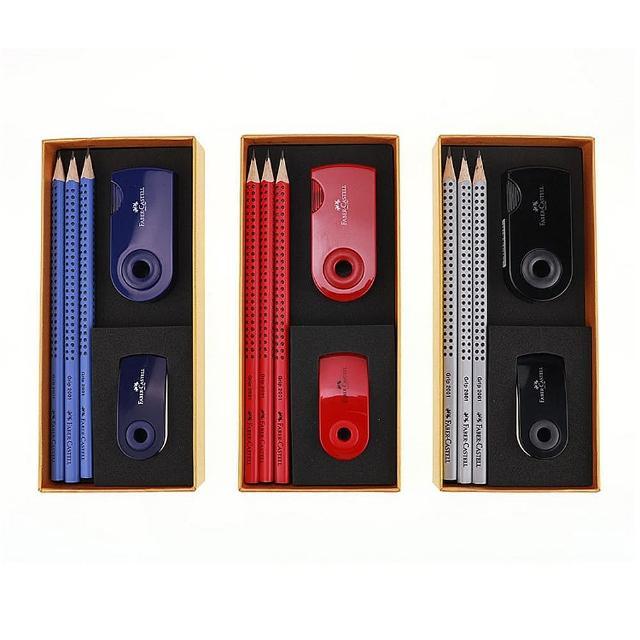 【Faber-Castell】輝柏 鉛筆小禮盒E0006 2001(文具組 鉛筆 橡皮擦 削筆器)