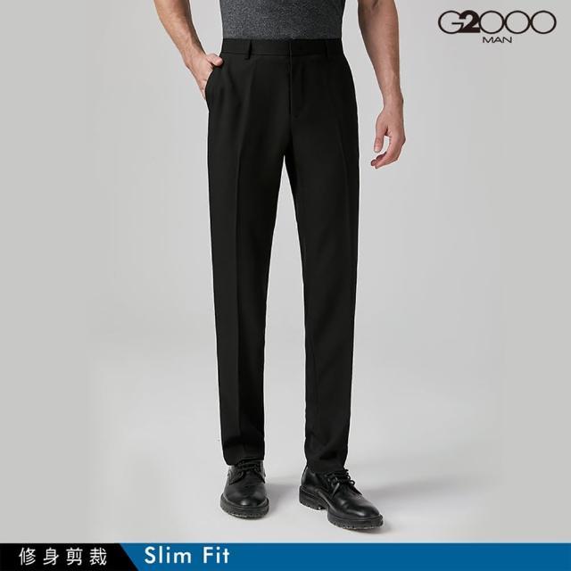 【G2000】時尚斜紋單品西褲-黑色(0815100499)