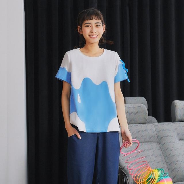 【Dailo】濃純香好喝調味牛奶-女短袖上衣(三色/版型適中)