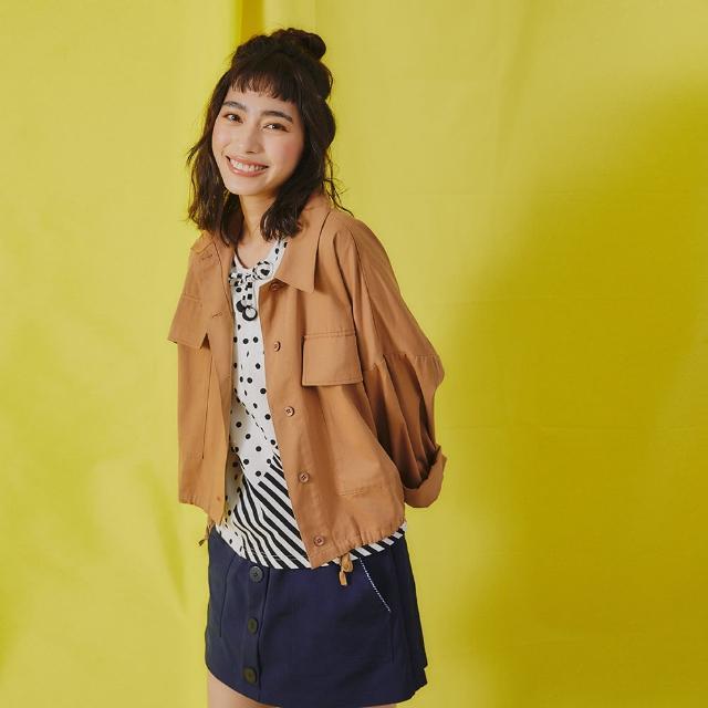 【Dailo】斜紋薄棉寬版-女長袖外套(二色/魅力商品/版型適中)