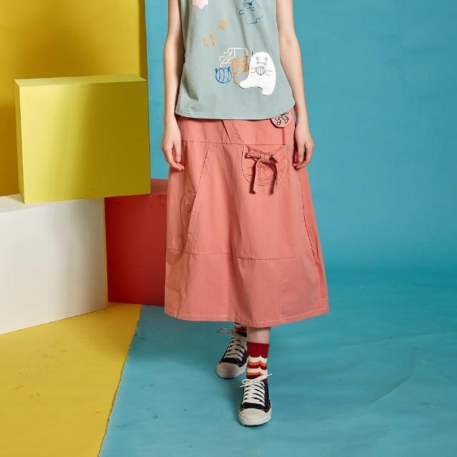 【Dailo】太空人小包包剪接-女長裙(三色/版型適中)