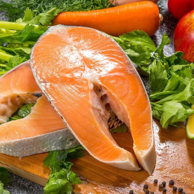 【鮮綠生活】智利頂級鮭魚切片 共8包(220g±10%/包『momo老饕美味標章』 認證)