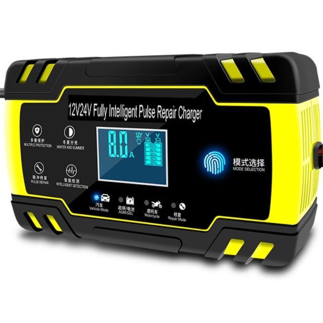 可修復 可充電12V 24V通用型機車電瓶 汽車電瓶 智能充電器(機車電瓶 汽車電瓶 智能充電器)