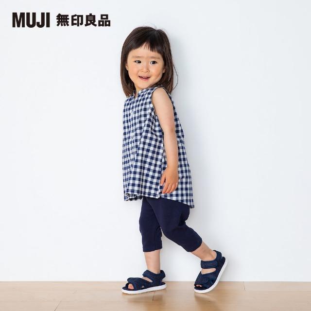 【MUJI 無印良品】幼兒有機棉泡泡紗織無袖長版衫(共2色)