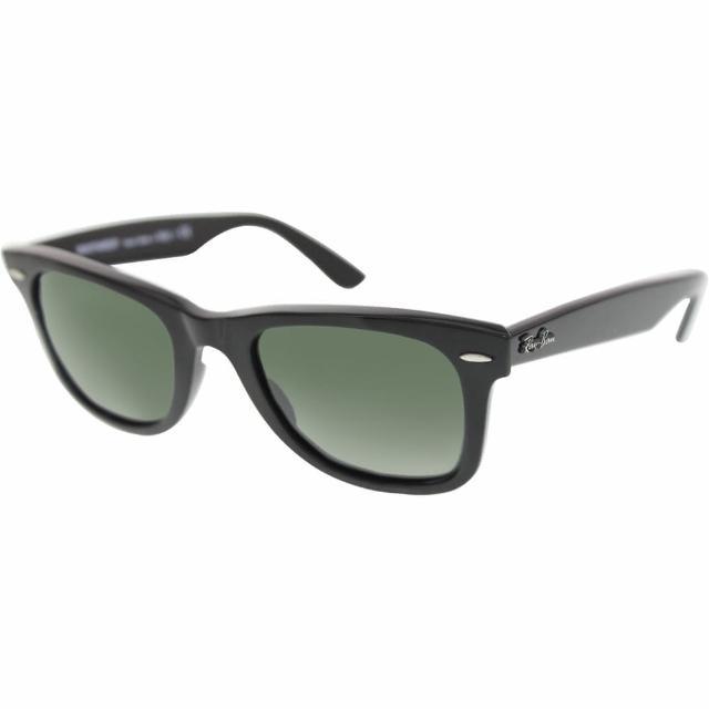 【RayBan 雷朋】ORB2140 901 50mm Classics款黑色框綠色經典鏡片太陽眼鏡