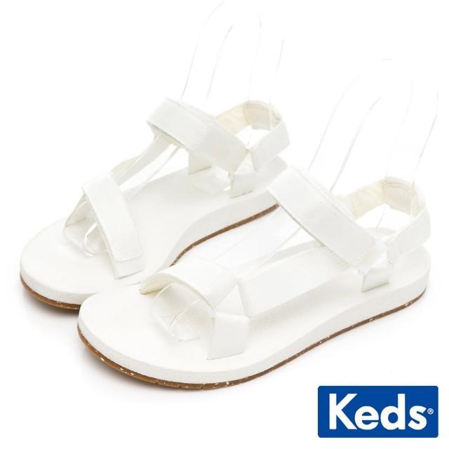 【Keds】TRIO ECO SANDAL 輕量街頭風格涼鞋(白)