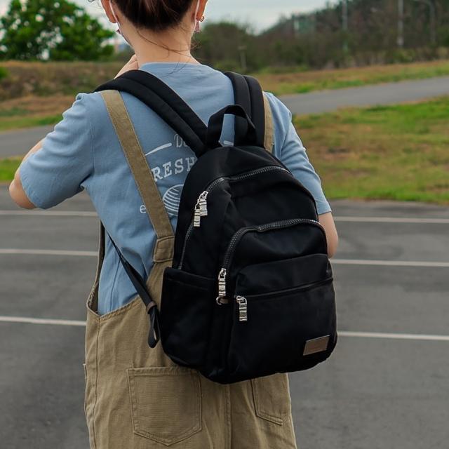 【J II】後背包-多隔層防潑水後背包-黑色-6390-1(後背包)