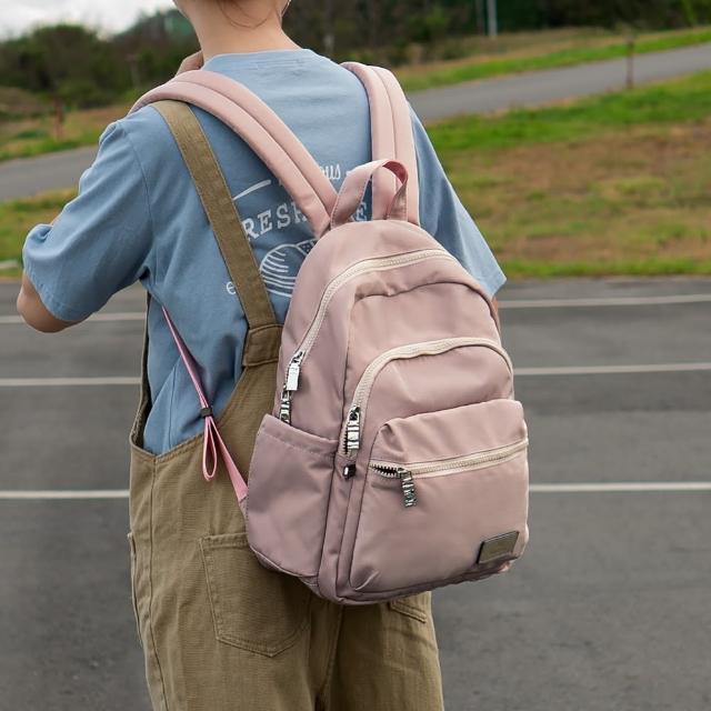 【J II】後背包-多隔層防潑水後背包-藕粉色-6390-16(後背包)