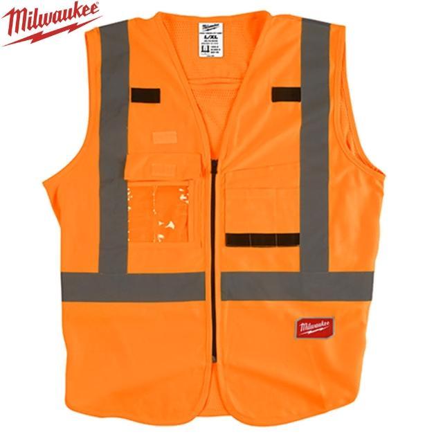 【Milwaukee 美沃奇】10口袋工程反光背心-橘色(48-73-5071、5072)