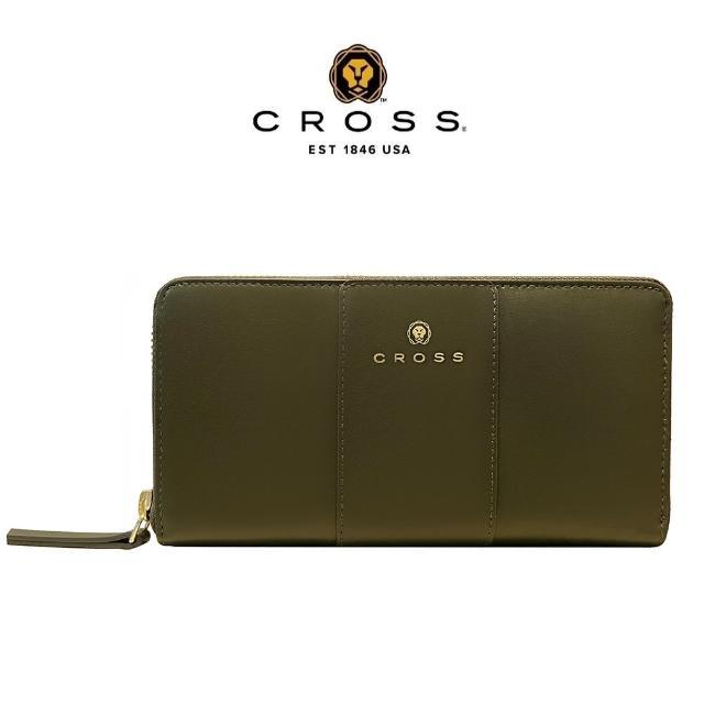 CROSS【CROSS】經典NAPPA頂級小牛皮拉鍊長夾 賈姬限定版(墨綠色)