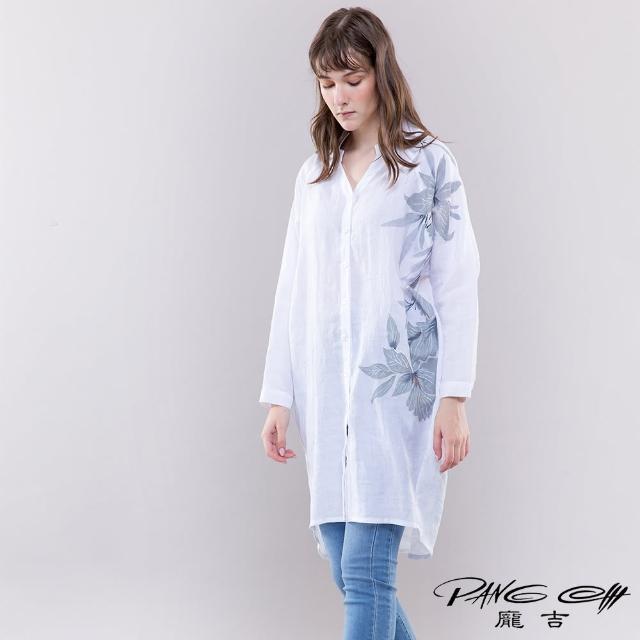【PANGCHI 龐吉】手繪印花棉質襯衫(2113033/11/12)