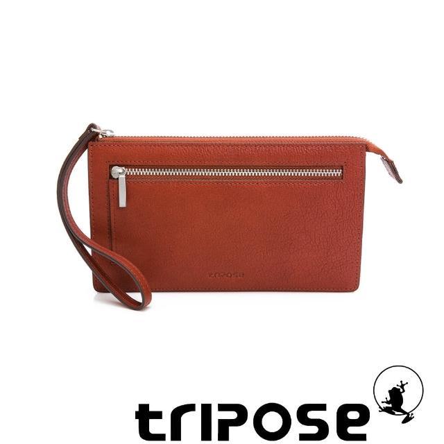 【tripose】進口牛皮手拎包(深駝)