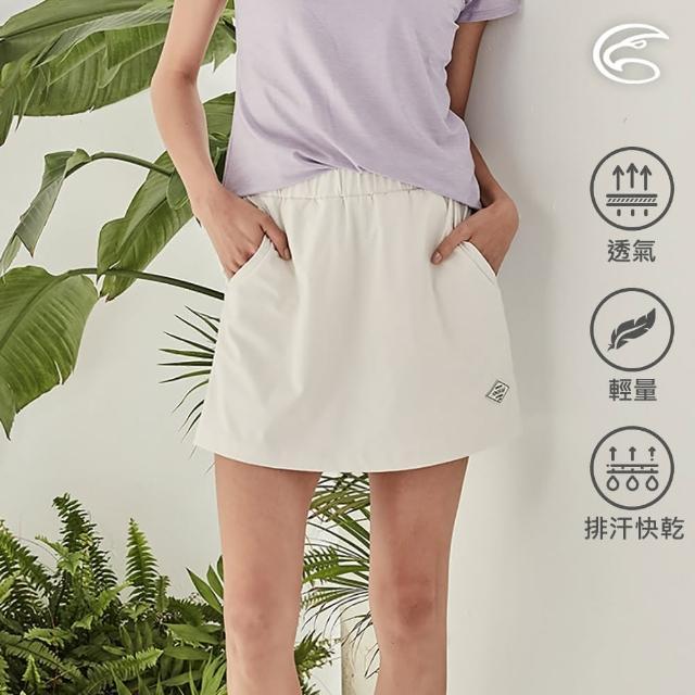 【ADISI】女supplex平紋彈性透氣快乾休閒短褲裙AP2111090(防曬 吸濕 速乾 輕薄 休閒褲)