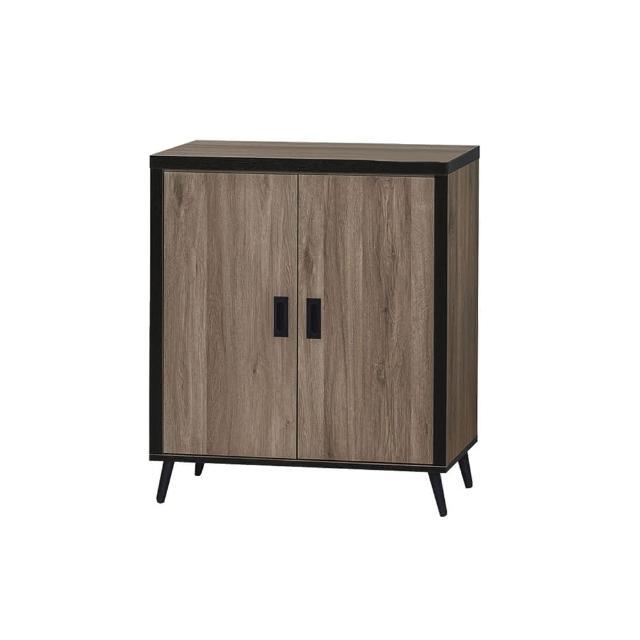【BODEN】溫森2.7尺工業風二門低展示櫃/收納置物櫃