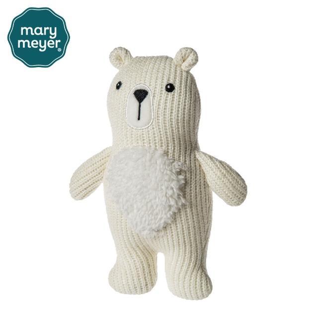 【Mary Meyer】柔軟手搖鈴-針織熊(沙沙紙 響紙 彌月禮 固齒器)