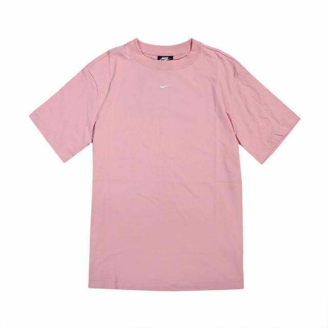 【NIKE 耐吉】T恤 NSW Essential Top 女款 NSW 運動休閒 基本款 流行 穿搭 粉 白(DH4256-631)