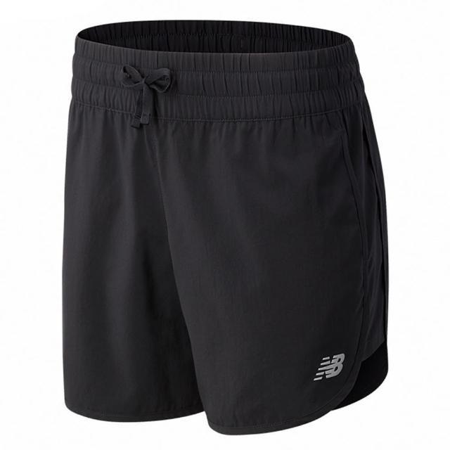 【NEW BALANCE】NB 短褲 女款 運動短褲 慢跑 健身 黑 WS11200BK