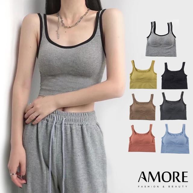 【Amore】舒適多色彈力美背無鋼圈背心(嚴選材質輕薄透氣)