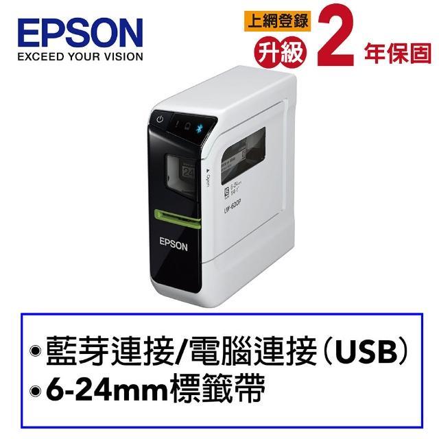 【三年保固超值組】贈3捲標籤帶【EPSON】LW-600P 智慧型手寫標籤印表機(內附原廠變壓器)