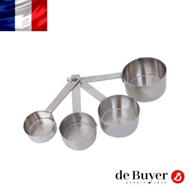 【de Buyer 畢耶】不鏽鋼量杯4入套組(60/80/125/250ml)